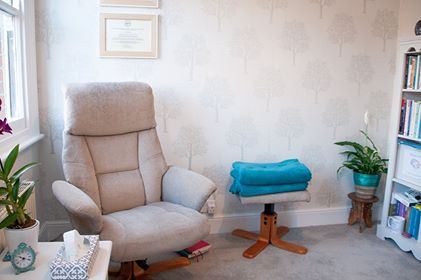 Norwich Hypnotherapist for Depression, Anxiety and Grief Treatment Room.
