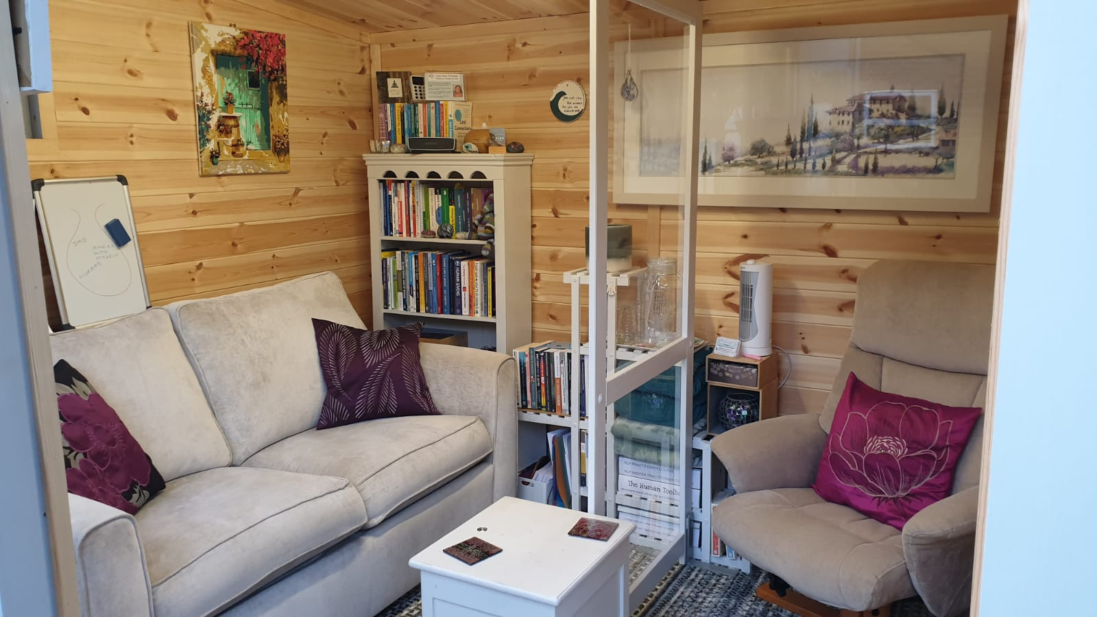 Garden Therapy Room for Norwich Hypnotherapy